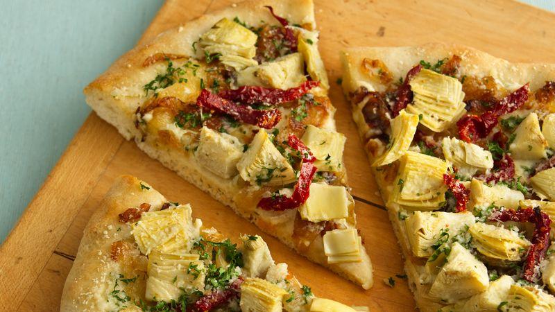 Artichoke Pizza with Paprika