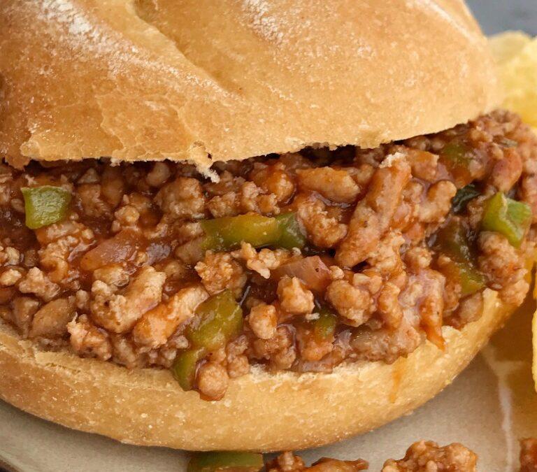 Barbecued Turkey Sloppy Joe Sandwich