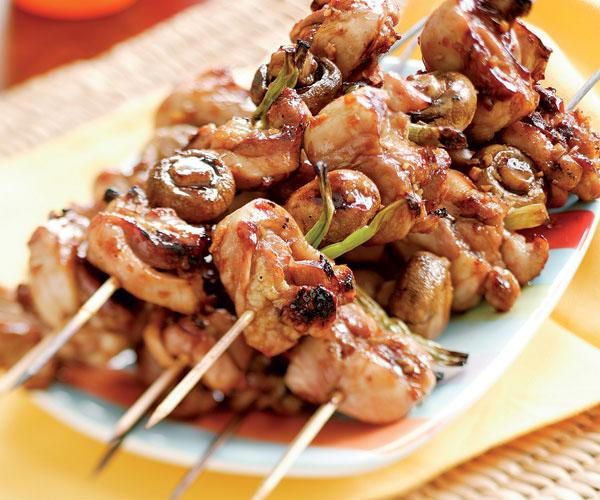 Grilled Chicken with Mushroom Teriyaki Sauce