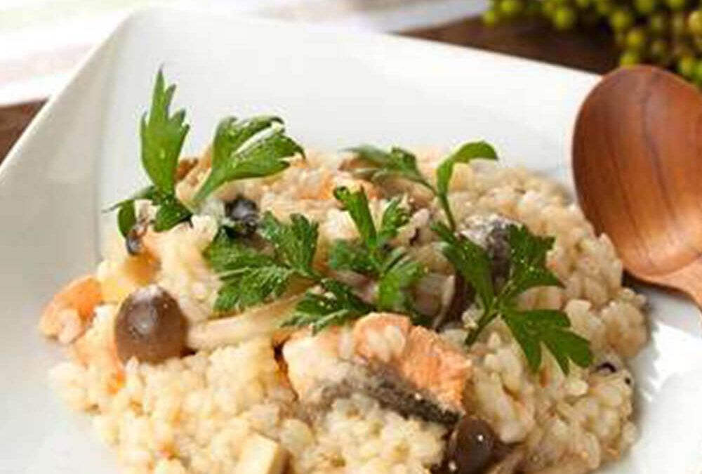Salmon and Mushroom Risotto