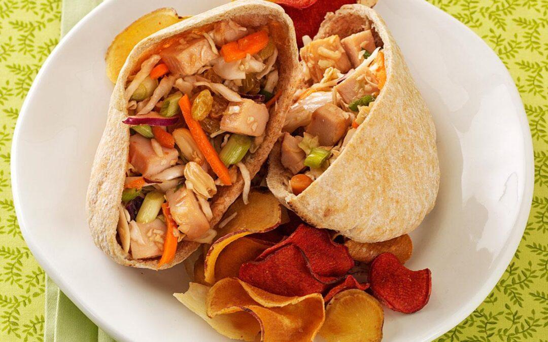 Thai Turkey Pita Sandwich